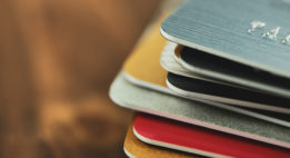 A stack of debit cards
