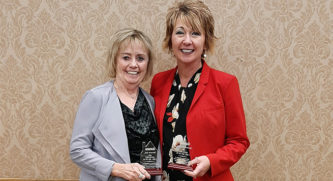 The South Dakota Housing Development Authority (SDHDA) presente Julie Brownell and Shawna Kleinwolterink as top loan officers