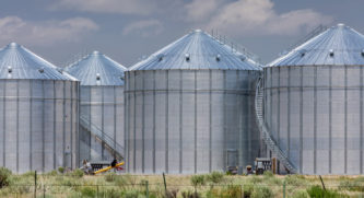 4 grain bins