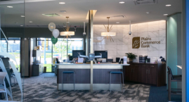 Teller area in the lobby at Plains Commerce Bank 57th and Sycamore