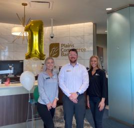 Plains Commerce Bank Retail Bankers Kendra Strande, Tamen Robb, and Talia Haight
